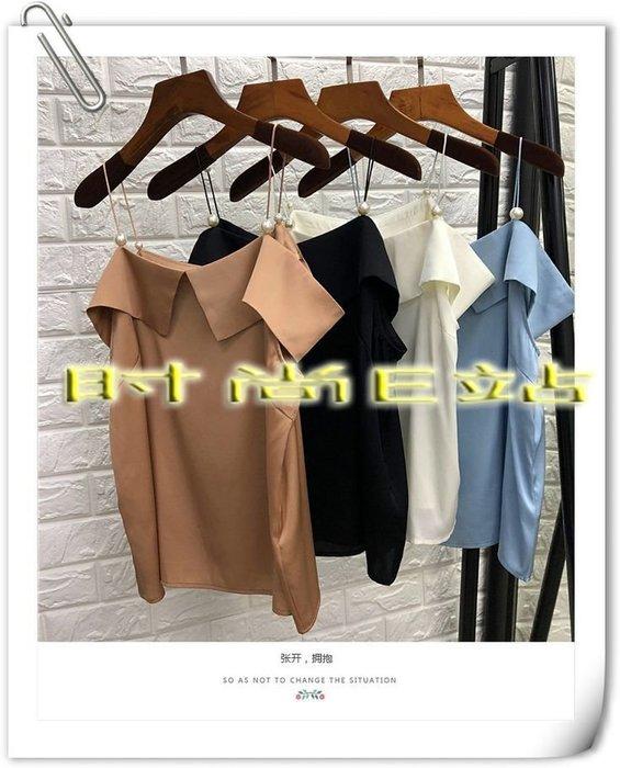 時尚E站【~SSEZ~】7117063046 重磅桑蠶絲吊帶短袖上衣
