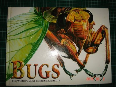 《BUGS -THE WORLD'S MOST TERRIFYING INSECTS 》七成新 【CS超聖文化讚】