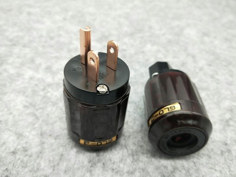 平價,聲暖,紫銅電源插頭,公.母頭 ~