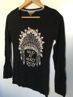 香港代購 香港連線 真品 正品 澳洲 衝浪品牌 S號 ROXY 長袖 純棉 T恤 長版 黑色 香港 帶回