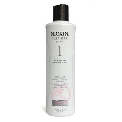 便宜生活館【洗髮精】NIOXIN 耐奧森(麗康絲)1號潔髮露300ml 輕微落髮/無染燙專用 全新公司貨 (可超取)