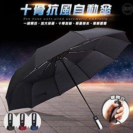 【趣嘢】【十骨抗風自動傘】--十骨設計,加固抗風,晴雨兩用 【A0169】