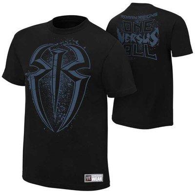 WWE 摔角衣服 Roman Reigns One Versus All Authentic 盾形黑色短袖T恤 買三免運