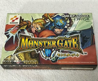 (全新) Gameboy advance GBA game Monster Gate 內連1張卡 日版 極罕有 靚盒