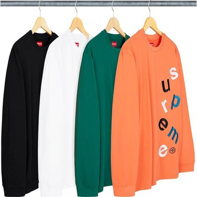 【紐約范特西】預購 Supreme FW20 Scatter Logo L/S Top 長T