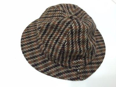 FailsWORTH 英國製 毛呢 純羊毛 紳士帽 m號 絲質內裡 二手 古著 倫敦 vintage風格 咖啡色格條紋 台中市