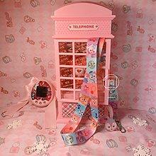 Little-luck~蘋果手機掛繩少女心軟妹可愛迪士尼達菲熊掛脖繩寬防丟長繩手機鏈