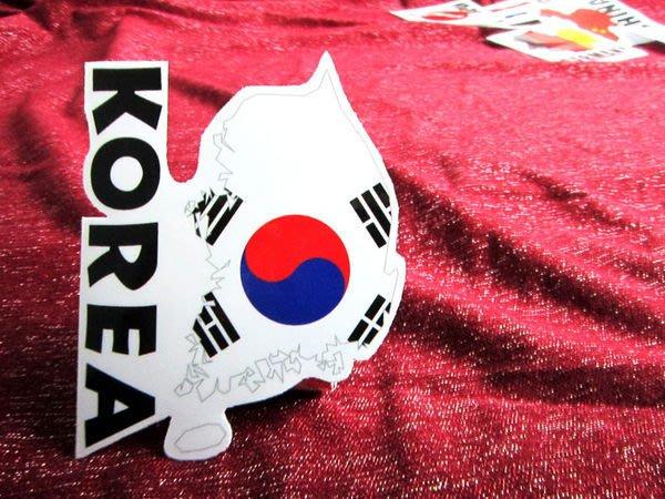 【衝浪小胖】南韓國旗地圖抗UV、防水登機箱貼紙/S.Korea/世界多國款可收集和訂製