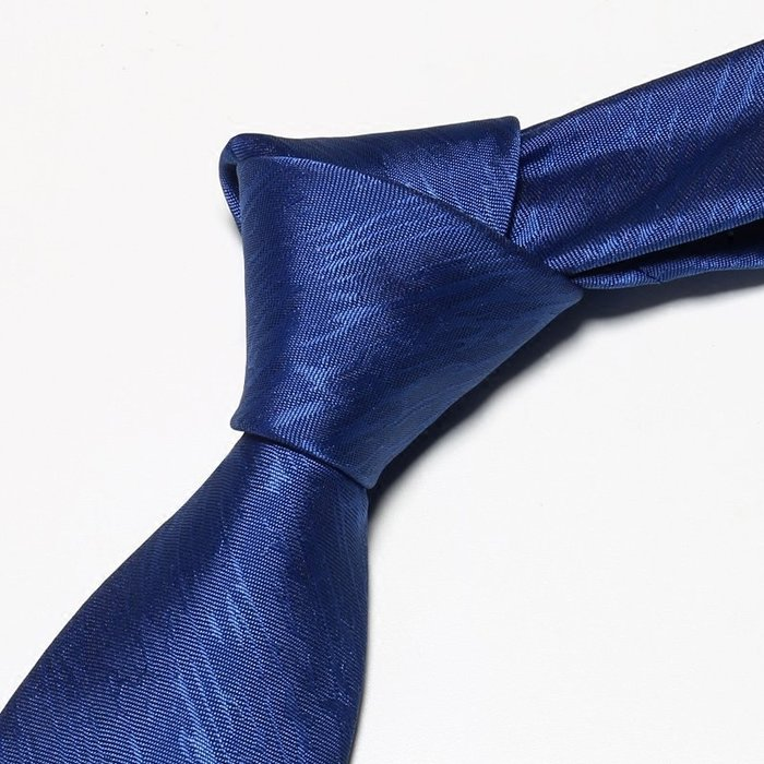 領帶男正裝商務8cm純藍色花紋韓版職業上班工作學生英倫時尚