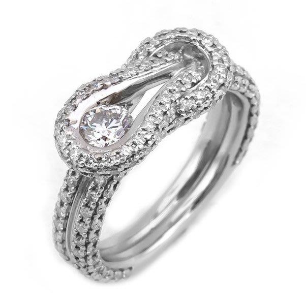 【JHT 金宏總珠寶/GIA鑽石專賣】forevermark造型鑽戒/材質:PT950(JB35-A22)