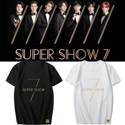 SUPER JUNIOR演唱會周邊WORLD TOUR SUPER SHOW7 應援衣服同款周邊上衣男女韩版情侣裝