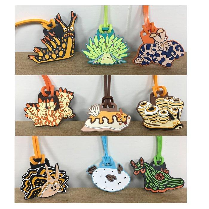 海蛞蝓造型 超可愛 超療癒 海洋生物 行李吊牌 吊飾