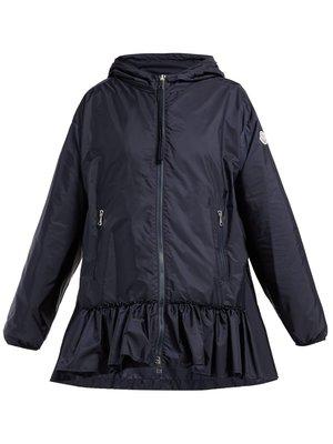 全新超美 Moncler Tbilissi ruffle-hem hooded jacke  深藍色外套 2號現貨