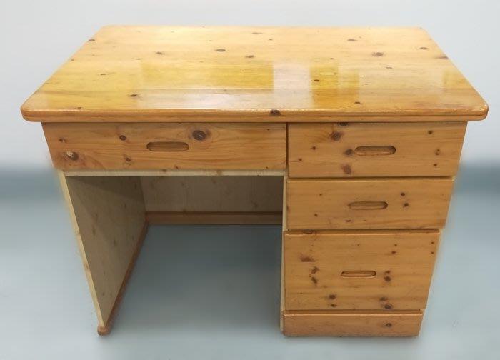 【宏品二手家具館】 2手家具賣場 F50212*松木4抽書桌*中古臥室家具拍賣 床組 床墊 床架 床板 床箱 床頭櫃