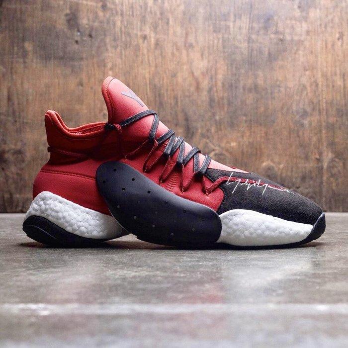 【Cheers】 Adidas Y-3 BYW Bball 皮革 麂皮 休閒鞋 山本耀司 男鞋 黑紅 紅黑