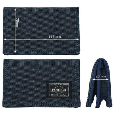 momo日本製PORTER TOKYO JAPAN男裝名片套business card case藍色中性名片夾八達通卡片套navy咭片套holder禮物blue