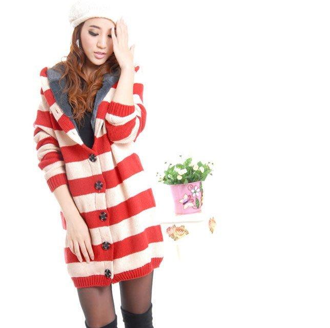 ☆Candy Box☆日韓版上衣毛衣外套 紅 Z1813036