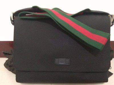 Gucci 經典背帶側背緹花布書包