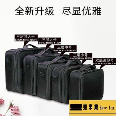 專業手提化妝包大容量多功能特大號簡約便攜化妝箱女化妝師專用【兜來樂】