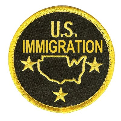 RayKae~刺繡臂章、燙貼布、熨燙徽章、刺繡燙布~US IMMIGRATION