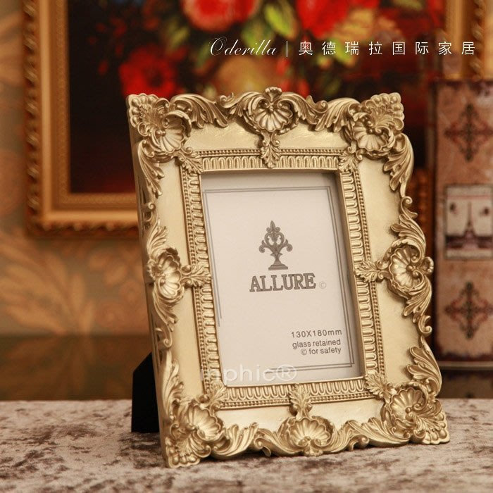 INPHIC-巴洛克風格相框 複古宮廷創意樹脂相框 裝飾工藝品
