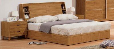 臥室最佳擺設典雅床架 高級床架 5尺柚木詩肯特雙人床架(7)屏東市 廣新家具行