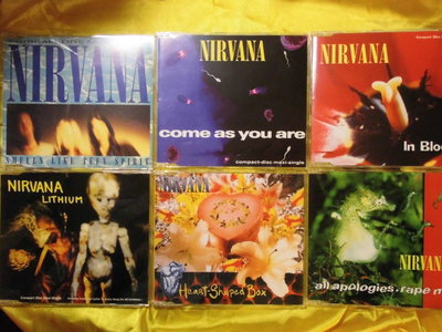 Nirvana超脫Smells Like Teen Spirit,Come as U Are,In Boom等單曲6碟