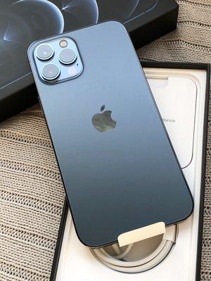「門市直購價」iPhone 12 Pro Max 256G 藍【保固至2022/02/13】 6.7吋螢幕 #00133