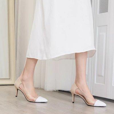 DANDT  尖頭透明拼接拼色高跟鞋 (MAR 26 1347) 同風格請在賣場搜尋 REG 或 歐美鞋款