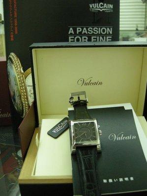 VULCAIN cricket窩路堅方型/震動鬧鈴錶 如新品