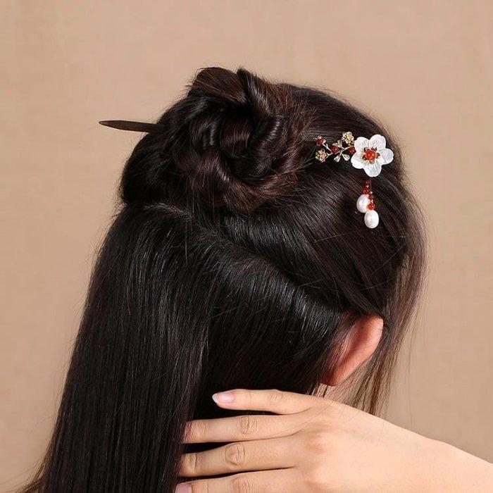 發簪古風古典中國風頭飾飾品宮廷步搖公主流蘇盤發簪子古代花發飾