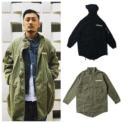 Cover Taiwan 官方直營 連帽外套 長版 風衣 大衣 軍裝 余文樂 D51 M51 黑色 軍綠色 (預購) 台北市