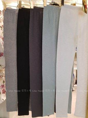 【莉莎小屋】正韓 春款新品(現貨) ?韓國連線代購-彈性內搭褲 緊身褲(現貨 黑色*1)??E200421