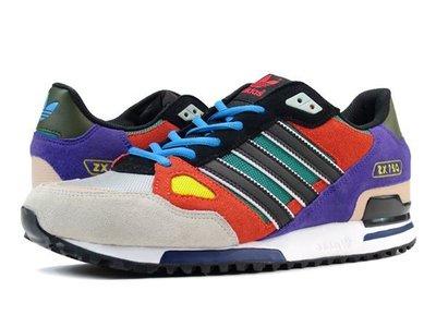(阿信)Adidas ORIGINAL ZX750 灰橘紫 男女 休閒 復古 慢跑潮鞋 余文樂 AF6292