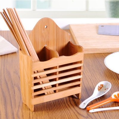 筷子筒收納壁掛式竹筷籠子家用多功能簡約...