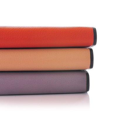 【M商店賣場所有商品任選2件再8折】優雅造型頭層牛皮皮夾超好手感實用長夾 - 另有沉穩紫、 經典橙、淺駝色 共3色可選