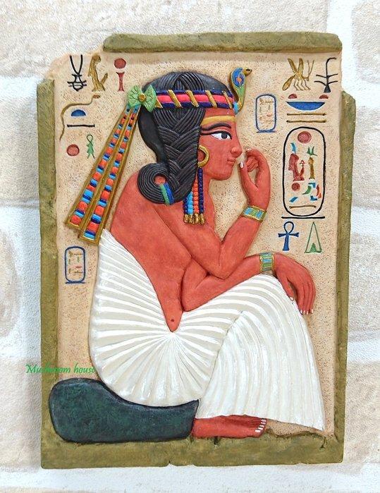 點點蘑菇屋 歐洲進口~埃及青年拉美西斯二世岩磚壁飾 壁掛 掛飾 古埃及文明 埃及古文 圖騰 精緻飾品 藝術品 現貨