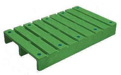 塑膠棧板100*60*12.7cm-川字型塑膠棧板,單面式網面二向插/可回收/全新品【富晴塑膠】