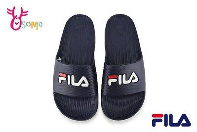 FILA 拖鞋 成人男女款 經典一片拖 全防水 運動拖鞋 情侶鞋 D9941#深藍 OSOME奧森鞋業