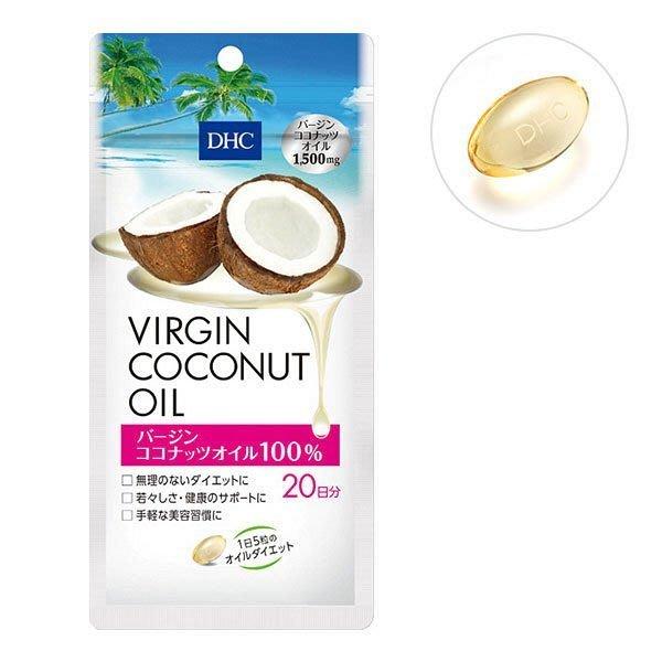 【現貨】DHC冷初榨椰子油美形元素_20日 100錠冷初榨椰子油【4580164698030】訂單成立後🚚 24h⏰出