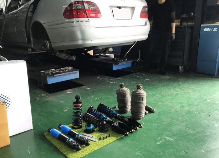 JK Racing 道路版避震器 BENZ S211 廢除原廠氣壓懸吊 不亮故障燈 高低軟硬可調 保固一年
