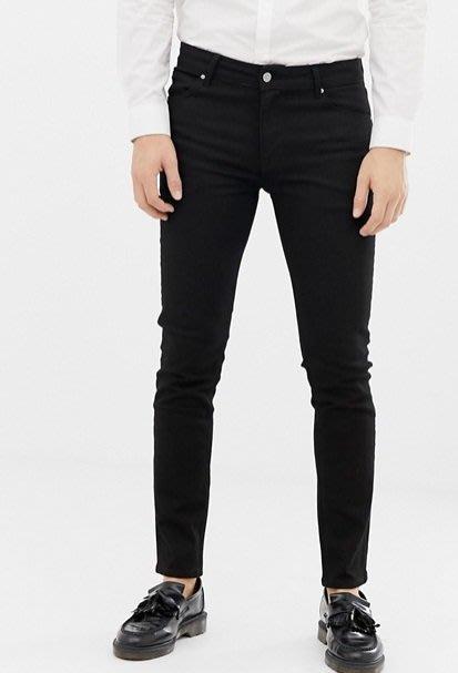 ◎美國代買◎ASOS黑刷色經典百搭款顯廋黑色牛仔褲~歐美街風~大尺碼