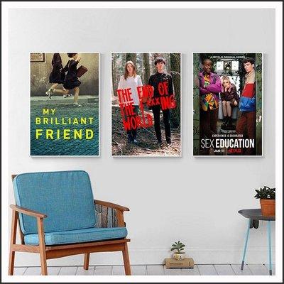 去他媽的世界 性愛自修室 我的天才女友 電影海報 藝術微噴 掛畫 嵌框畫 @Movie PoP 賣場多款海報~