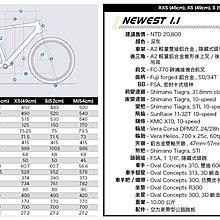 【鐵馬假期】富士 FUJI 2016 鋁合金 NEWEST 1.1 公路車 Tiagra 尺寸46
