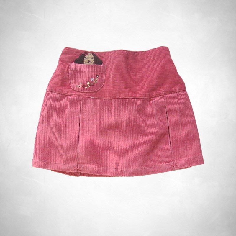 cocololo小舖:Gymboree 小女孩桃紅色絨布褲裙 (3Y) s(22158)