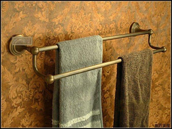 凱西美屋 復古全銅毛巾桿 鄉村風全銅毛巾架
