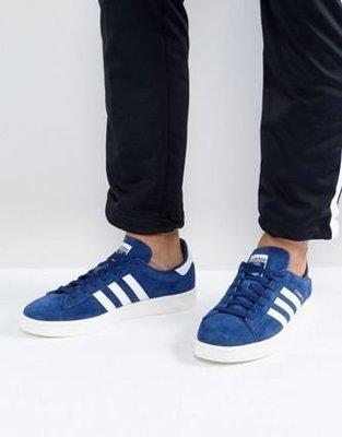 》P.S 》ADIDAS ORIGINALS Campus 愛迪達 深藍色 寶藍 男鞋 流行 運動 休閒 BZ0086