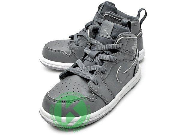 NIKE JORDAN 1 RETRO MID TD BT COOL GREY 幼童鞋 BABY 鞋 灰白 酷灰 AJ