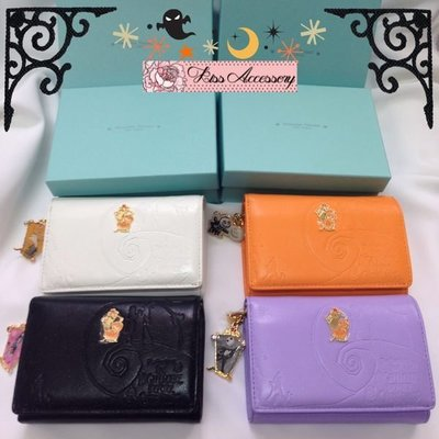 日本購入 Disney Samantha Thavasa Jack Short Wallet 淺紫色短銀包 Jack 扣