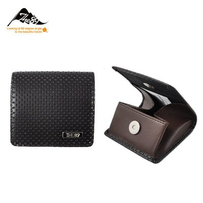 THE89 (出清特賣)個性立體方形磁扣男用零錢包-黑色-咖啡-共2色-952-2601
